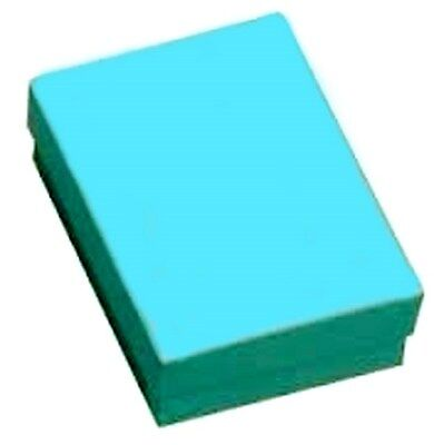 """100  Teal Cotton Filled Jewelry Gift Boxes 3 1/4 X 2 1/4"""""""