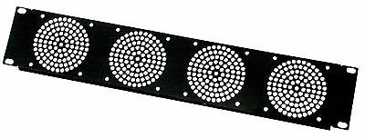 "2U Rack Panel 19"" with 4 x 80mm Fan Hole  for Network  Cabinet Mount cases"