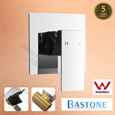 Bathroom Wall Flick Shower Mixer Tap Square Brass Bath Basin Vanity Spa Spout