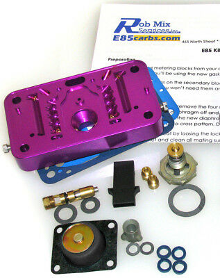 4412 E85 Conversion Kit for Holley 500 2 Barrel Carburetor Purple Do-It-Yourself