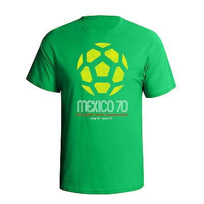 Mexico 70 classic football world cup mens t-shirt retro distress style T65