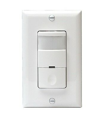 Decorator 3-Way PIR Occupancy Vacancy Motion Sensor Movement Detector Switch