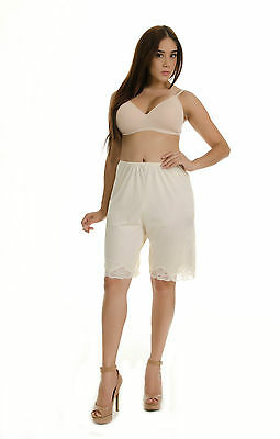 "Anti-Static Slip Pettipants 20"" 13 "" Length M L XL 2XL White Beige Black Bloomer"