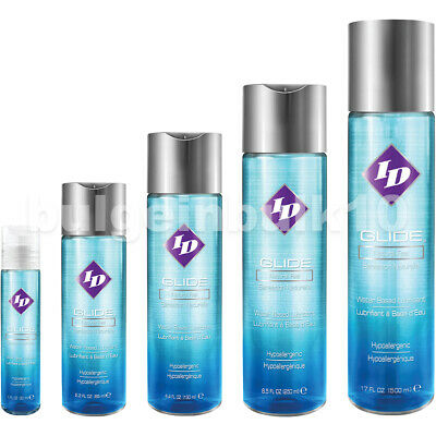 ID Glide Water H2O Based Personal Sex Lubricant Original Lube - All Sizes