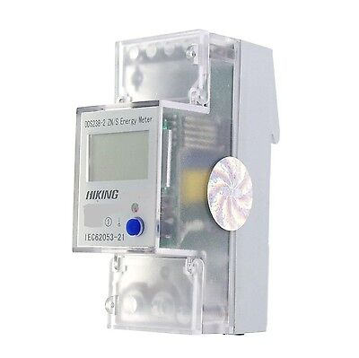 (1) 5-65A 110V 60Hz Single Phase Reset To 0 DIN-rail Kilowatt LED Hour kwh Meter