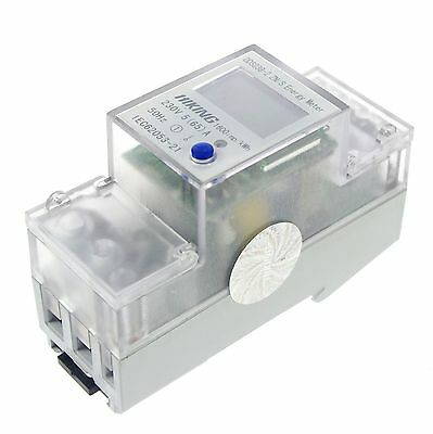 (1) 5-65A 230V 50Hz Single Phase Reset To 0 DIN-rail Kilowatt LED Hour kwh Meter
