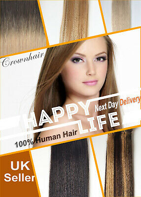 100g Full Head-100% Human Remy Hair Weave Weft Extensions- Weaves-Multi-Colours