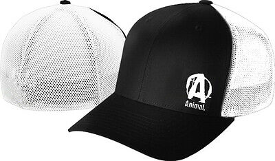 Universal Nutrition Animal Flexfit Cap Black/White Hat Mesh MMA beanie shirt t