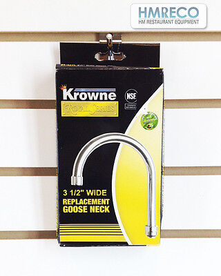Krowne   3 1 / 2 Wide Replacement GOOSE NECK 21-427L