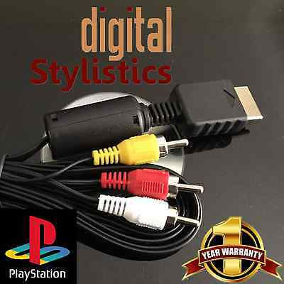 A/V Cable Cord (NEW) Playstation PS1, PS2, PS3 (AV Audio Video, 1, 2, 3)