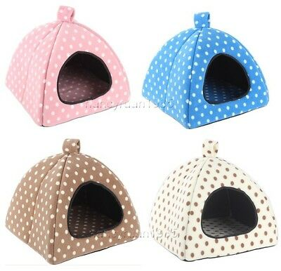 New Sweet Dots Pet Dog Cat Tent House Bed Types Small,Medium,Large