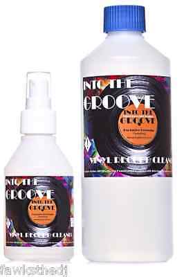 INTO THE GROOVE  RECORD CLEANER® 160ml  spray  + 550ml  REFILL+ FREE CLOTH