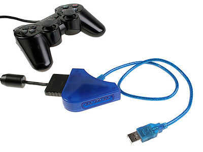 PS1 PS2 PSX to PC USB Dual Controller Adapter Converter