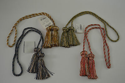 "Curtain & Chair Tie Back - 27""spread w/ 3"" tassels - 6 colors ways!!!"