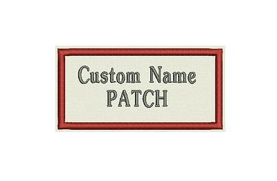 "Blulk lot - 12 Rectangle Custom Embroidered Name Tag, Biker Patch, badge 4"" x 2"""
