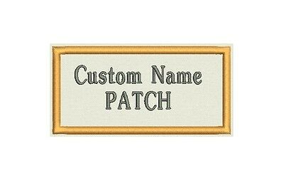"Lot of 8 Rectangle Custom Embroidered Name Tag, Biker Patch, badge 4"" x 2"""