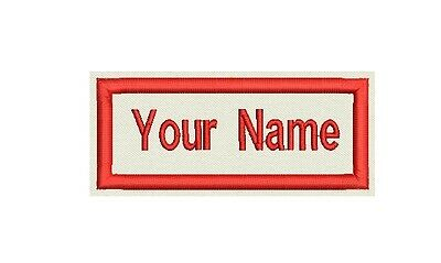 """Rectangle Custom Embroidered Name Tag, Biker Patch, badge 3.5""""x1.5"""""""