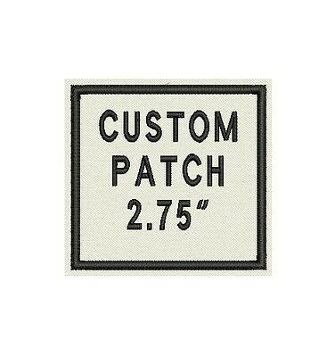 "Set of 2 Custom Embroidered Name Tag, Biker Patch, badge 2.75"" square"