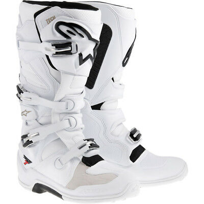 Alpinestars NEW 2017 Mx Tech 7 Adult Dirt Bike White Motocross Boots