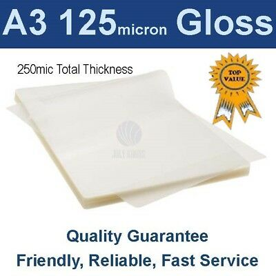 A3 Laminating Pouches Film  125 Micron Gloss (PK 100)