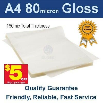 A4 Laminating Pouches 80 micron Gloss (PK 100) -Buy 2 packs get $5 off