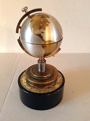 Vintage Table Lighter Globe On Music Box Windmill