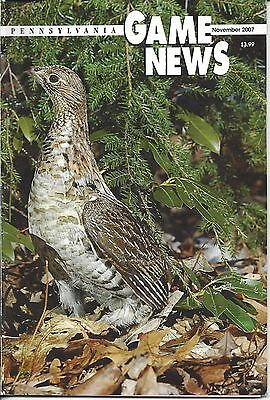 Pennsylvania Game News November 2007 cover by Tim Flanigan ruffed grouse