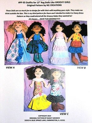 NG Creations Pattern #3 Sew Six Party Dresses that fit Groovy Girls Dolls