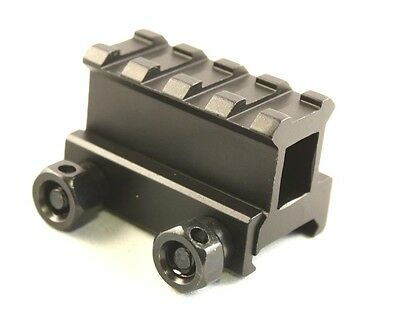 """1"""" Inch 4 Slot Riser Mount See-Through Design for Flat Top Rifles"""