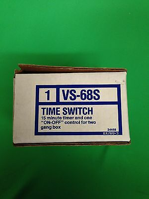 NOS NUTONE TIME SWITCH VS-68S 15 Minute TIMER & On / Off Control 2