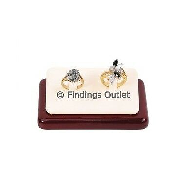 Ring Display With 2 Clips Rosewood