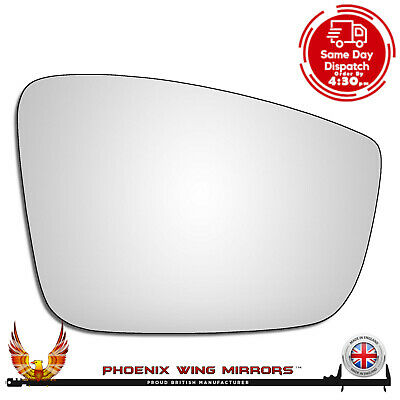 Right Hand Drivers Side VW UP! 2011-2016 Convex Wing Door Mirror Glass UK made!