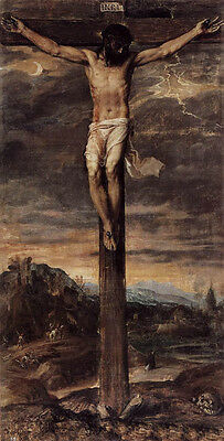 Dream-art Oil painting Tiziano Vecellio - Jesus Christ Crucifixion on the cross
