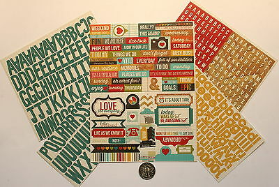 SCRAPBOOKING NO 090 - OVER 150 Piece DIE CUT SAYINGS & ALPHABET STICKERS