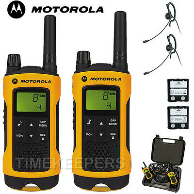10Km Motorola TLKR T80 Extreme IPX4 Rugged All Weather Two Way Radios Twin Pack