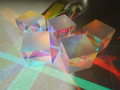 "Color Combining Glass Prism Cube -Cross Dichroic-RGB Comb/Splitter-7/8""-Lot of 8"