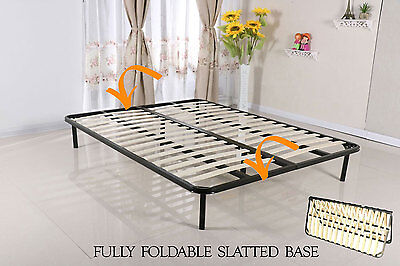 Slatted Folding Guest Bed Bed Base in Single Double King Super King FREESTANDING