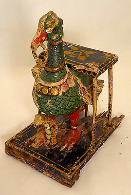 Polychrome Peacock Altar For Votive Offerings - Hindu - Indian