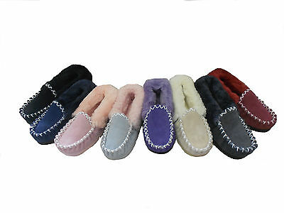 Australian Sheepskin Moccasins Lady's 6/ Men's 5 Multi Colours
