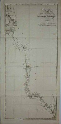1828 Chart JOHN FRANKLIN 1st Arctic Expedition Great Slave Lake Cannibalism Trek