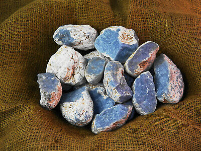 4000 Carat Lots of Rare High End Angelite Rough - Plus a FREE Faceted Gemstone