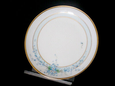 Limoges Hand Painted Blue & White Forget Me Not Plate Signed