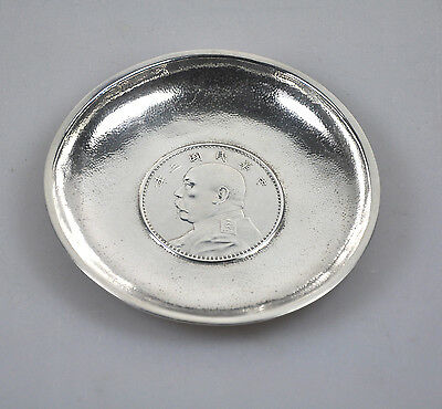 Antique Chinese Dollar Export Silver Yuan Shih Kai Coin Plate China Luen Wo 1914