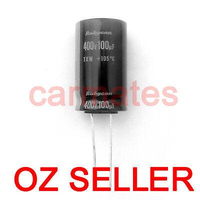 Capacitor 100uf 400V 105°C 18X30mm for APPLE LCD Monitor Screen Repair Rubycon
