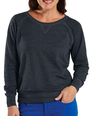 LAT Women's V Patch Long Sleeve Ribbed Cuff Lightweight Winter Pullover. 3762