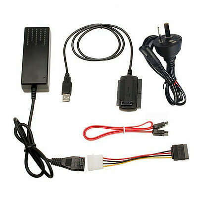 USB 2.0 to IDE SATA 2.5 3.5 Hard Drive HDD Reader Adapter Power Converter Cable