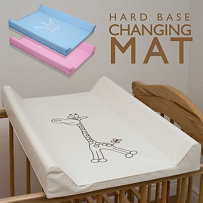 Baby Hard Base Changing Mat Fits Cot Cot Bed Top Changer Prince Crown Blue Pink