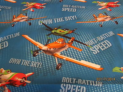 Disney Planes Dusty baby toddler sheets set blue