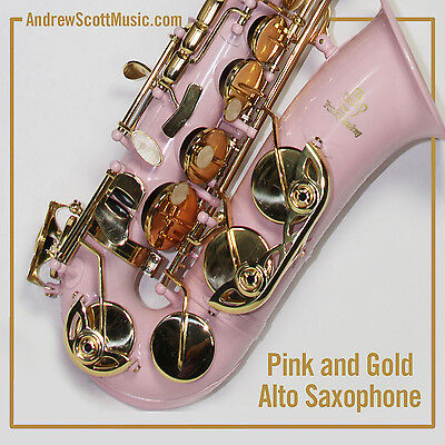 New Pink Alto Saxophone in Case - Masterpiece