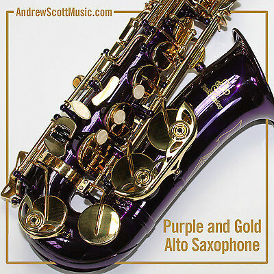Purple Alto Saxophone, New in Case - Suitable for both Professionals & Students